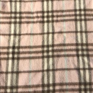 Burberry Cashmere Pink Plaid Scarf